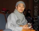 韓國中央僧伽大學校佛學系教授、佛學博士本覺(俗名陳永裕)(攝影:曾嘉連  / 大紀元)