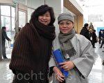 Nirvana Philharmonic管弦樂團團長康炯珍(左)(攝影:曾嘉連/大紀元)