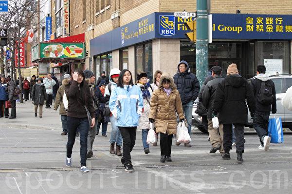 图:中国一直是加拿大移民的最大来源国之一,加拿大已经有100多万华人。图为位于多伦多市中心的唐人街(摄影:穆枫/大纪元)