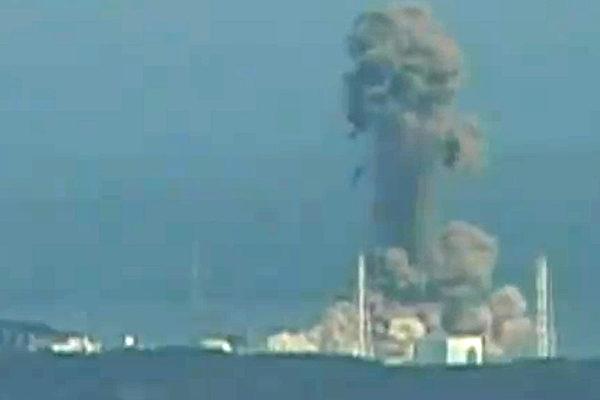 日本福島第一核電廠3號機組3月14日發生爆炸。(AFP PHOTO/HO/NHK)