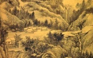 清.戴熙〈云岚烟翠图〉局部(网路图片)