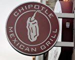 墨西哥連鎖餐廳Chipotle Mexican Grill的招牌。(Photo by Scott Olson/Getty Images)