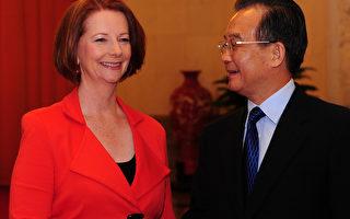 澳總理訪華提人權 溫家寶否認倒退 民眾駁斥