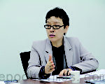 韩国法务部移民政策委员会咨询委员长、韩国启明大学社会学科教授金惠顺。移民政策咨询委员会由民间13名专家组成,其中金教授是唯一的一名女性专家。(摄影:文龙/大纪元)