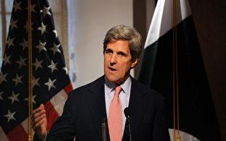 2011年5月16日巴基斯坦伊斯兰堡,美国参议员约翰克里结束与巴基斯坦的军事和政治领导人会谈后,举行海外媒体代表记者招待会(AFP)