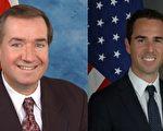 美国国会众议员、台湾连线成员艾德‧罗伊斯(左)和美国务院副助理国务卿丹尼‧贝尔(右)。(大纪元资料图片)