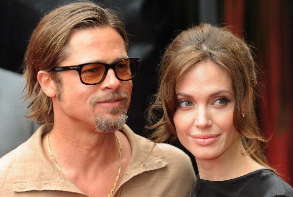 安吉麗娜·朱莉(Angelina Jolie)與布拉德·皮特(Brad Pitt)恩愛現身。(圖/Getty Images)