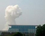 5月26日,江西省撫州市臨川區政府大樓和檢察院同時發生爆炸事件。這次爆炸事件引發眾多網友熱議與評論。(STR/AFP/Getty Images)