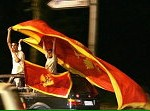 黑山支持獨立人士慶祝公投勝利。(AFP/Getty Images)