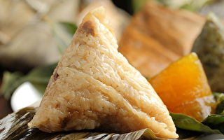 艾草粽子-米粽(攝影: 林仕傑 / 大紀元)