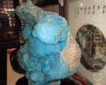 蓝色异极矿原石 (明钰珠宝提供)