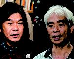 香港立法会议员纷纷祝贺新唐人电视亚太台续约成功。由左至右:梁国雄、梁耀忠。(大纪元)