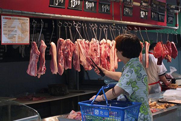大陸6月CPI升6.4% 豬肉比去年貴6成