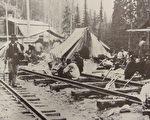 1889年,中国劳工在加拿大太平洋铁路工程营地。(卡尔加里Glenbow档案馆, 编号: NA 3740-29)(摄影:  / 大纪元)