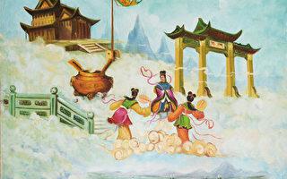 倫納德收藏的中國畫:天門。他認為,佛法最接近真理。(倫納德提供)