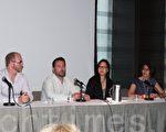 論壇現場,圖中左二為希克斯(Matt Hicks),左四為蕾絲林女士(Leslie Lum)。(攝影:吳雅儒/大紀元)