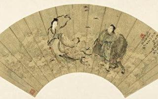 牽牛織女的七夕愛情故事在中國文化中綿亙流長。(清.唐培華〈牛郎織女〉(網路圖片)