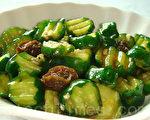 酸甜好滋味的凉拌小黄瓜吃起来清脆爽口(摄影: 林秀霞 / 大纪元)