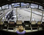 图为德国法兰克福机场的塔台控制中心。(THOMAS LOHNES/AFP/Getty Images)