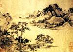 《溪山風雨圖》 王蒙。(香港大紀元圖片)