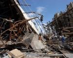 芹苴省正在施工的大桥,发生坍塌事件