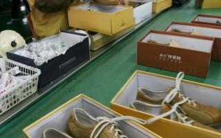 自从金融风暴后,中国一些工厂的出口订单大幅度减少,加上之前的毒玩具和毒奶粉的后遗症,使得温州这个中国制造业的发源地也陷入了危机。图为温州一家制鞋厂。(图/MARK RALSTON/AFP/Getty Images)