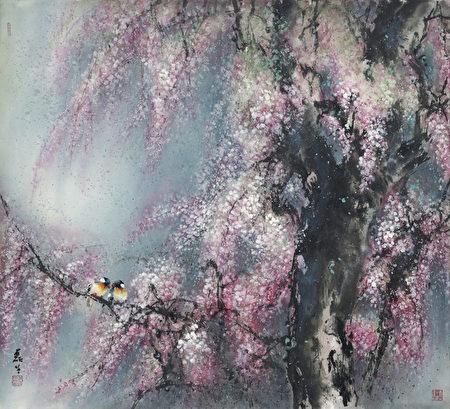 四季─春.黄磊生2011年作品(图/黄磊生家属提供)