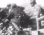万家岭阵地上中国军队的重机枪阵地