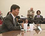 西藏流亡政府行政首長洛桑桑蓋在美國國會呼籲,希望美國向中共施壓,允許國際社會進入四川,獨立調查最近多起西藏僧侶自焚事件。(攝影:林帆/大紀元)