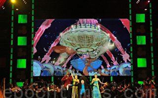 4位實力堅強的百老匯歌手天籟的美聲,全場觀眾歡聲雷動。(攝影:許享富/大紀元)