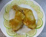 金黄色的烟熏鸡腿(摄影: 刘玉婵 / 大纪元)