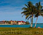 佛罗里达美丽的风景,宜人的天气吸引著来自世界各地的游人。图为佛州海滩。(摄影: Mark Zou/大纪元  )