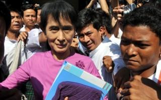 缅甸反对党重入政坛 昂山素姬预计参选