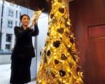 图片新闻:金光闪闪圣诞树