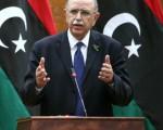 2011年11月22日,利比亚的临时总理大臣阿卜杜勒拉希姆向媒体宣布他的新内阁阵容。 (AFP PHOTO/MAHMUD TURKIA)