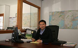 旺角地产经理杜先生(Duman Razdan) 。(摄影 王晓莲/大纪元)