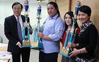 一百多公斤大男孩抱回亞洲髮型化妝雙冠軍