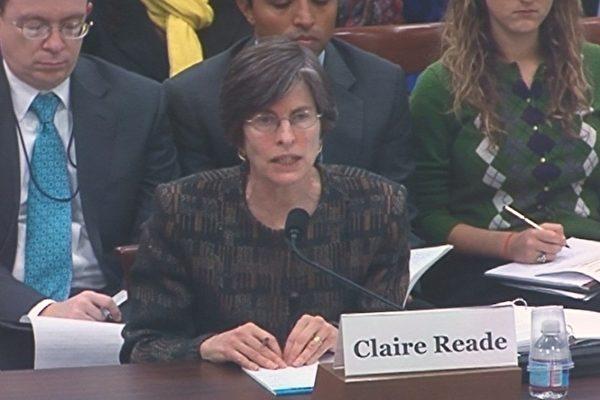 主管中国事务的美国助理贸易代表瑞德(Claire E. Reade)(摄影:吴天明/大纪元)