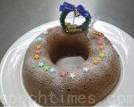 圣诞威廉巧克力蛋糕(摄影: 刘玉婵 / 大纪元)