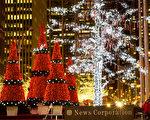 纽约浪漫圣诞节 第六大道上的圣诞灯饰(摄影:戴兵 / 大纪元)