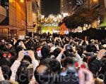 組圖:香港12年最冷平安夜氣氛熱熾