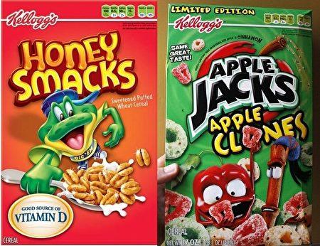 如果你早餐给孩子吃蜂蜜风味(Honey Smacks)或苹果杰克(Apple Jacks)牌的麦片(cereal),还不如直接给他们吃一块巧克力饼干或奶油夹心蛋糕。这是对孩子们早餐吃的麦片营养分析的结果。(大纪元资料图片)