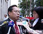 民主党主席何俊仁议员对人大常委会的表决,感到极度失望和愤怒,认为是践踏港人民主诉求。(大纪元)