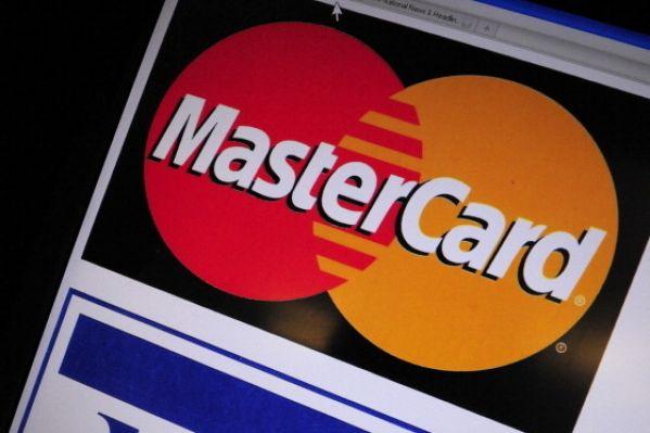 信用卡万事达卡(MasterCard)和维萨卡(Visa)标志。(KAREN BLEIER/AFP/Getty Images)