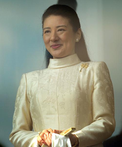 2012年1月2日,日本皇太子妃雅子公開亮相。(AFP PHOTO / TOSHIFUMI KITAMURA)