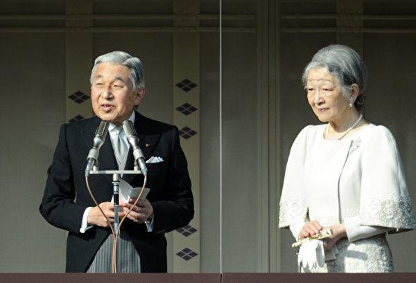 2012年1月2日,明仁天皇及皇后美智子(  AFP PHOTO / TOSHIFUMI KITAMURA)