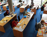 圖為慕尼黑一所大學的圖書館(Johannes Simon/Getty Images)
