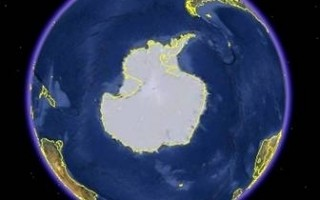 冰封的南極大陸(google earth)