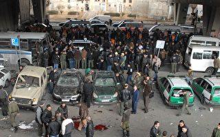 2012年1月6日,叙利亚首都大马士革发生自杀炸弹攻击事件,造成25人丧生,另有45人受伤。(AFP PHOTO/SANA)