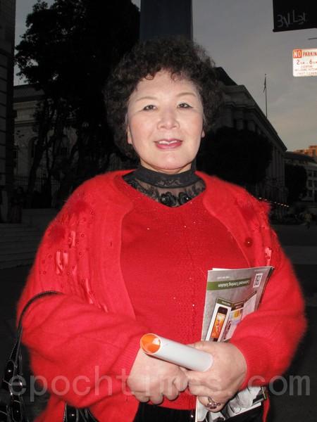前21世紀民主教育基金會主席蔣亨蘭女士(攝影: 馬有志 / 大紀元)